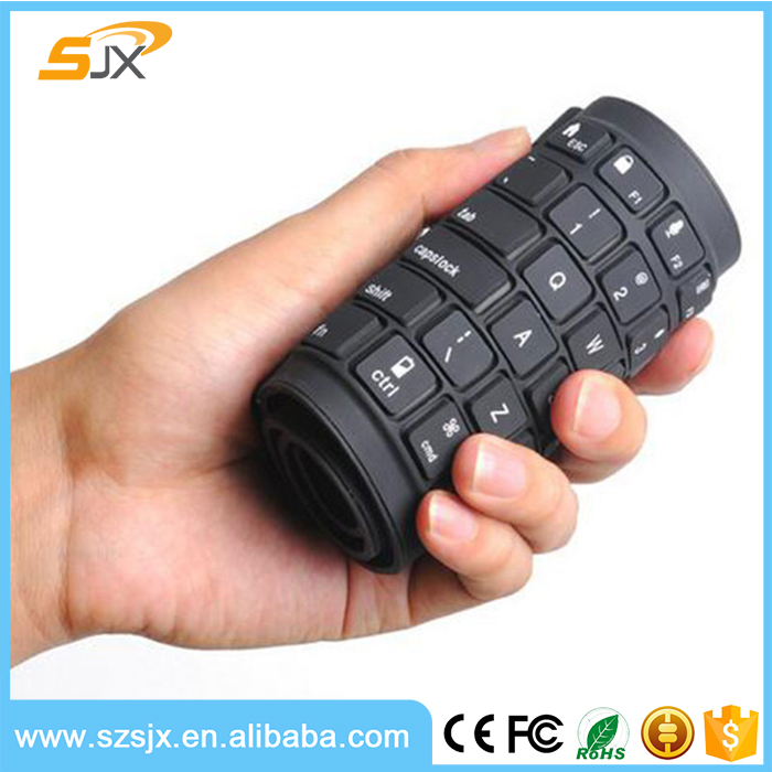 Mini Folding Flexible Silicone Wireless Bluetooth Keyboard