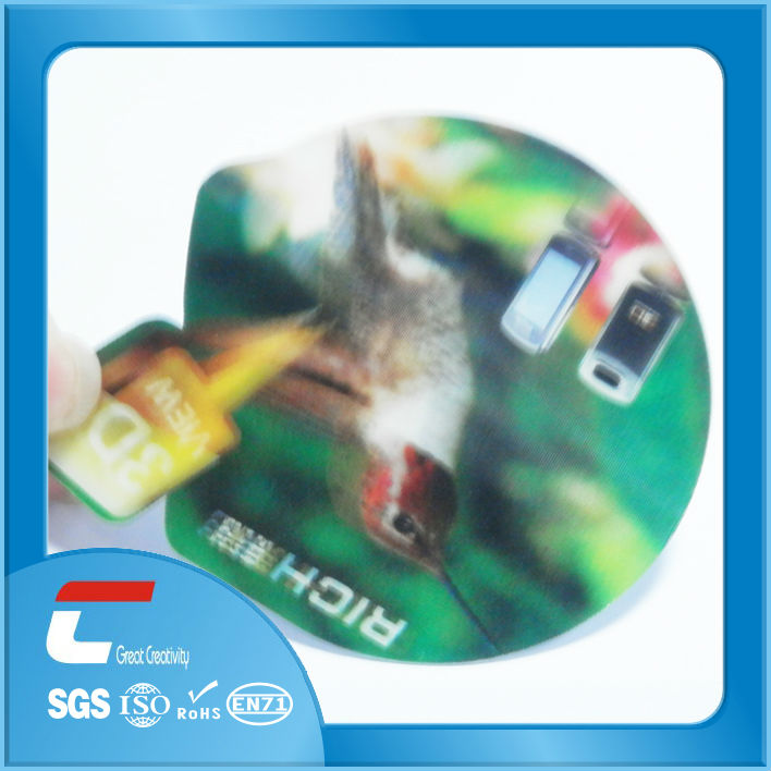 Change Flip 3D Promotion Card/2013 new 3d card for anime/3d lenticular playing cards