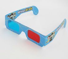 Latest design custom logo full color print paper 3d glasses