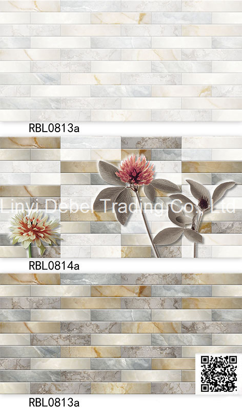 Newest design color wave pattern 3d printing ceramic inner wall tiles