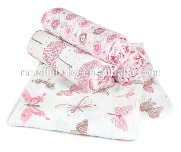 100% cotton bamboo muslin fabric baby swaddle blankets large muslin squares warps