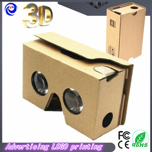 2018 Newest Google Cardboard 2.0 Virtual reality 3D glasses Box-style VR2 3d glasses with headband Christmas gift