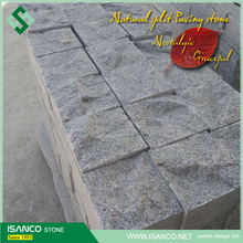 grey granite cubes used for driveway, outdoor paving, landscpaing