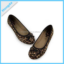 sexy leopard bow girls flat ballet shoes 2015