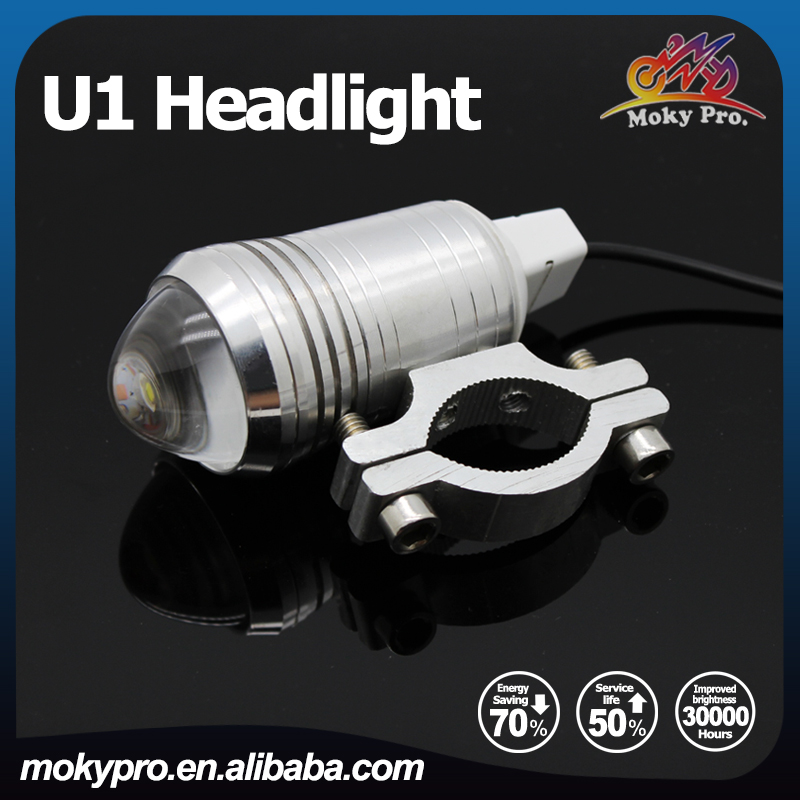 12-80V led laser headlight fog light for motorcycle <strong>u1</strong> silver