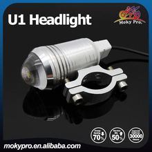 12-80V led laser headlight fog light for motorcycle u1 silver