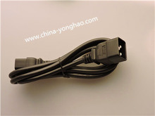 male to femal power cord IEC C13-C14 UL Approval Connector Electrical Cable ac power suffix plug with AC power cord