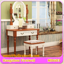 Modern design wooden mirrored dressing table for bedroom furniture