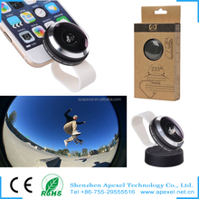 portable mini mobile fisheye lens factory rent in china wholesale super wide 235 fisheye lens for all mobile