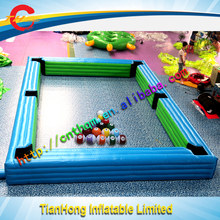 high quality inflatable sport game/China manufacture inflatable billiard table
