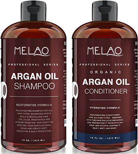 OEM Organic Moroccan Argan Oil Shampoo and Conditioner Set (2 x 16 Oz) - Sulfate Free - Volumizing & Moisturizing