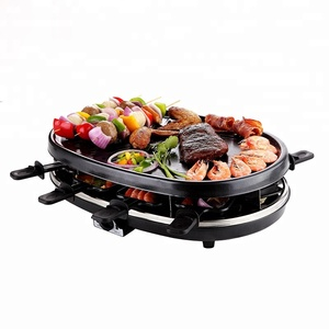 indoor 8 persons smokeless nonstick electric griddle barbeque grill