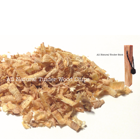 Outdoor camping all natural tinder pine wood chips