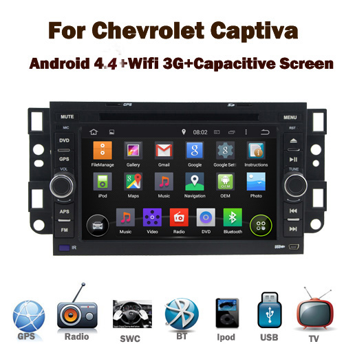 Pure Android 4.4 Car DVD Player for Chevrolet Captiva Epica Lova with Wifi 3G GPS Bluetooth Radio RDS USB IPOD Steering wheel