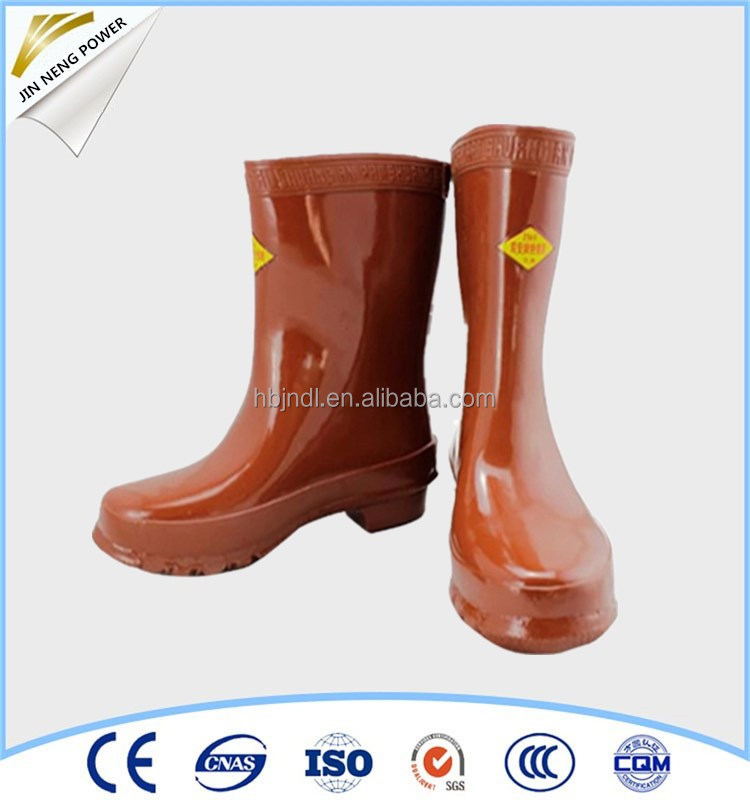 standard rubber safety boots for selling