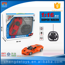 4CH 1:16 Steering Wheel Remote Control Car For Kids Game Remote Control Stunt Car With Light