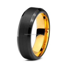 6mm shiny polished beveled edges smart jewelry ring for men's engagement Tungsten carbide ring