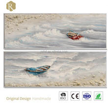 100% handmade beach style oil painting Y515414