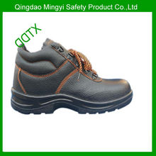 Cow embossed leather high ankle safety hiker shoes /safety footwear