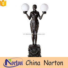cast bronze art decor torchere lamps statues NTBH-S063Y