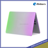 HOT SALE Rainbow Pattern Rubberized Hard Shell Plastic Case for MacBook Air 11 11.6 13 13.3 Cover