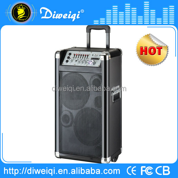 karaoke system trolley portable speaker with USB SD FM RC