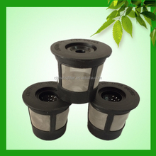 biodegradable plastic material keurig reusable k cup coffee filter with stainless steel mesh