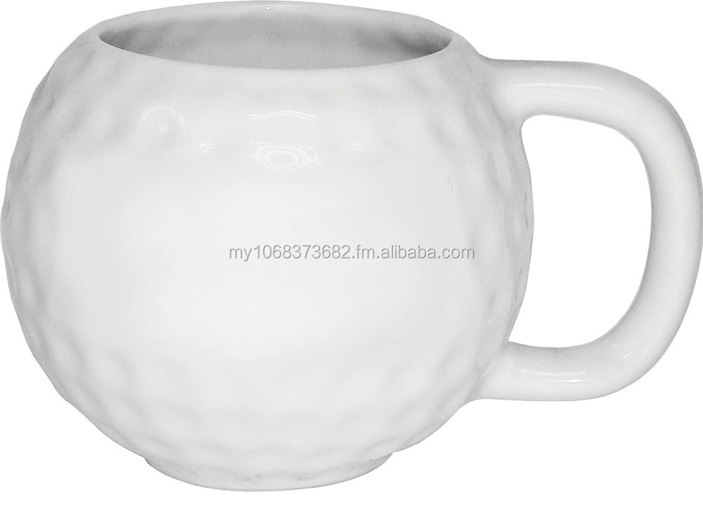Wholesale Golf Ball Ceramic Mug 325ml - Factory Direct