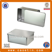China manufacturer OEM printing rectangle slide tin box