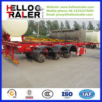 3 axles 40ft skeleton container chassis trailer with twist lock