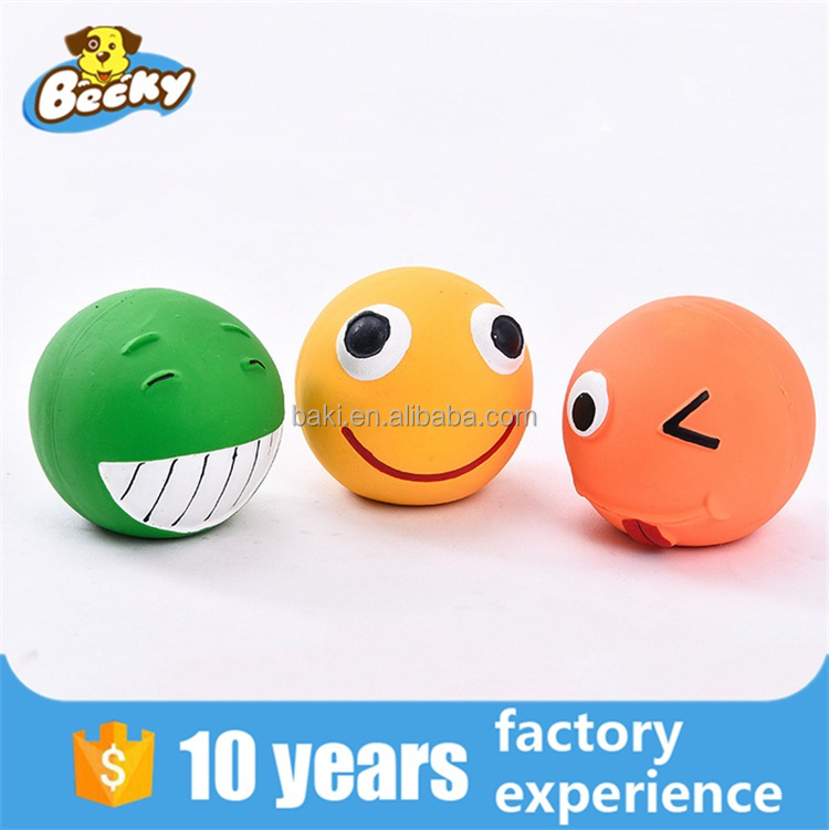 High Quality Non-Toxic Expression Ball Squeaker Chew Latex Dog Toy