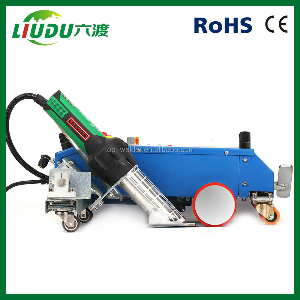 Hot air pvc flex banner welder no need glue