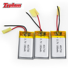 3.7v li-ion polymer battery 180mah 401730 041730 lipo battery for smallest bluetooth headset