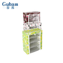 Compact small space tall narrow shoe cabinet storage cabinet