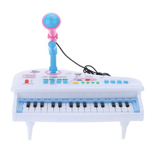 31 Keys Multifunctional Electrical Keyboard Electone Musical Toy Mini Simulation Piano Toy with Microphone Gift for Kids
