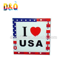 Custom Promotion USA souvenir rectangular tin fridge magnet