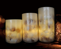 Home Decoration Use and Pillar Shape paraffin wax led candle light