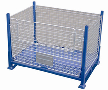 foldable steel wire mesh container industrial cage