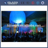 led light helium balloon for promotion, decoration colourful inflatable jellyfish