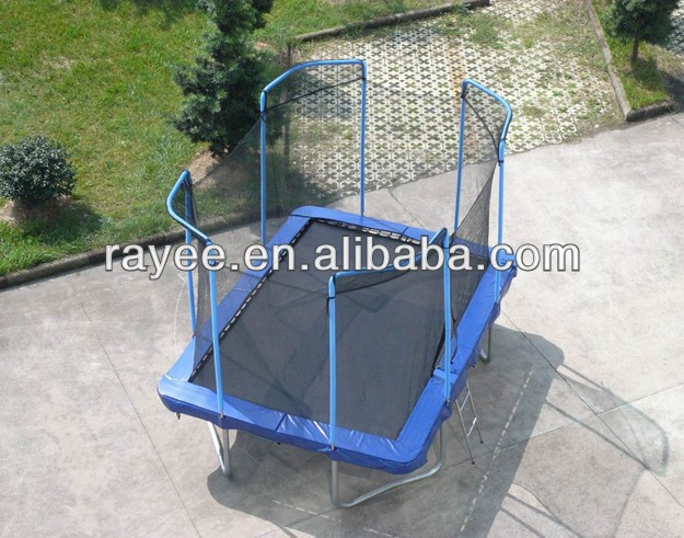 Big rectangle trampoline with enclosure / trampolines baratos con recintos