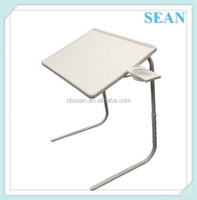 PORTABLE ADJUSTABLE CUP HOLDER WITH DRAWER TV DINNER TRAY TABLEMATE Laptop Desk Table Mate Foldable Tray