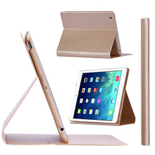 For Apple iPad air 2 wholesale leather case cover, simple design PU leather bag for Apple ipad air 2