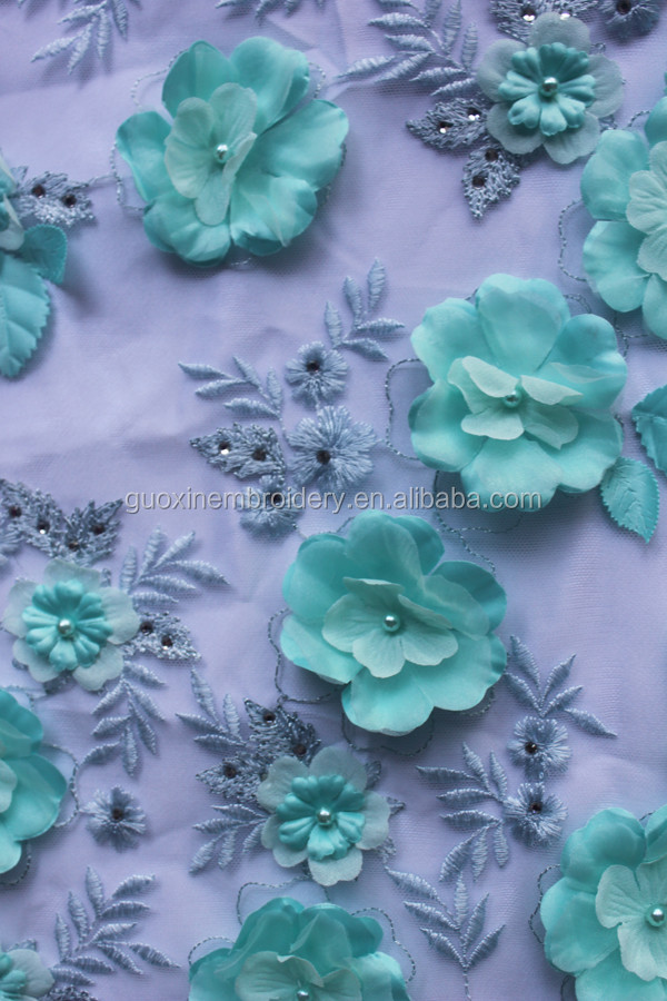 Appliqued Lace Flower 3D Embroidery Lace for Garment 2016