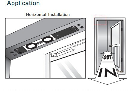 Horizontal or vertical installation magnetic shear lock with 1260kg(2700Lbs)