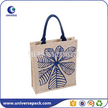 China manufacture recycled burlap jute tote bag for shopping