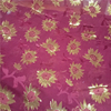 Cutting motif silk metallic chiffon fabrics lurex silk brocade fabric