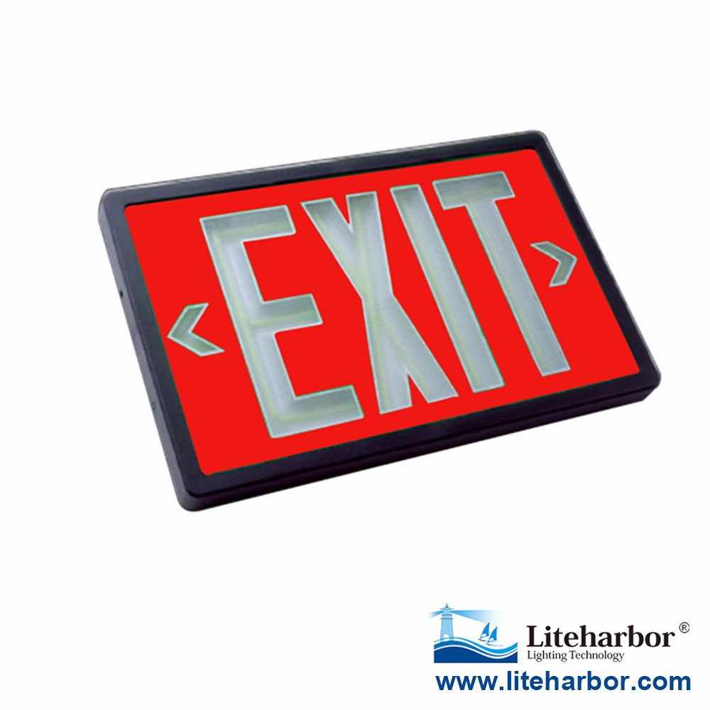 Concealed mounting tritium self-illuminating no power Lighted exit signs