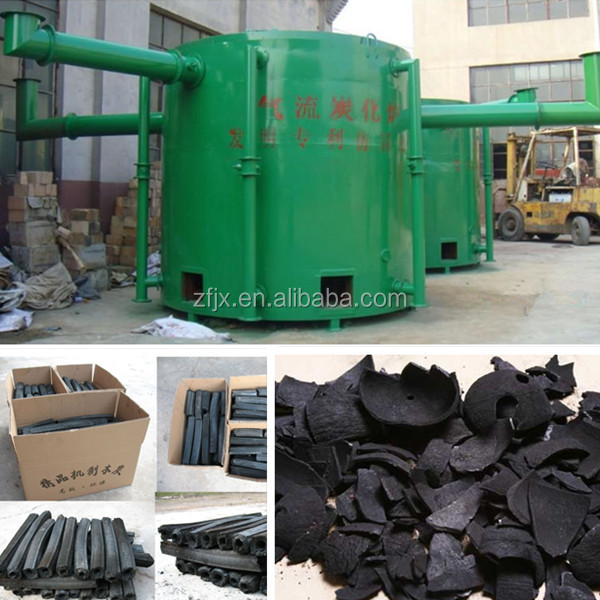 Airflow smokeless sawdust carbonization stove machine/self-ignite wood chips carbonization stove