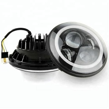 Angel eye 48W harleys daymaker motorcycle led headlight Round 7Inch LED Headlight for Jeep