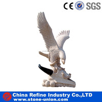 Polishing Cheap Granite Hand Carved decorative eagles statue